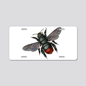 Vintage Bee Aluminum License Plate