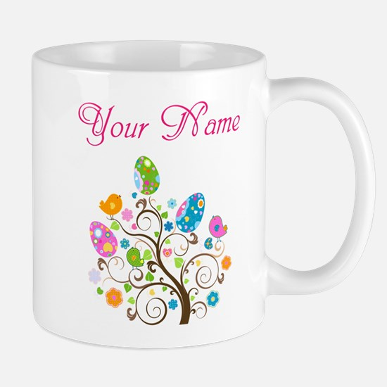 Personalized Easter Tree Mugs