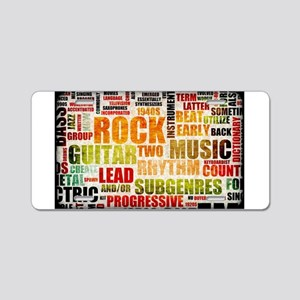 Rock and Roll Music Poster Art as Background Alumi