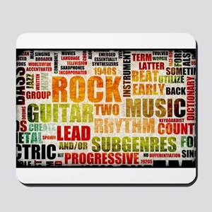 Rock and Roll Music Poster Art as Background Mouse