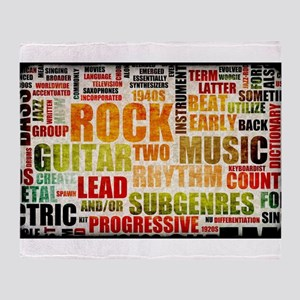 Rock and Roll Music Poster Art as Background Throw