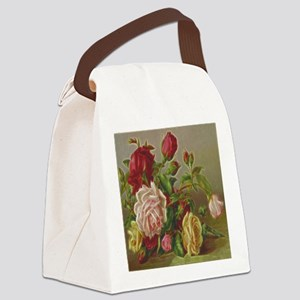 Vintage Flowers Canvas Lunch Bag