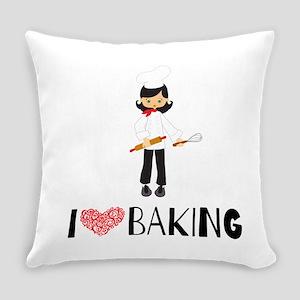 I love Baking Everyday Pillow