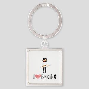 I love Baking Square Keychain