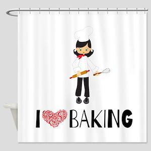 I love Baking Shower Curtain