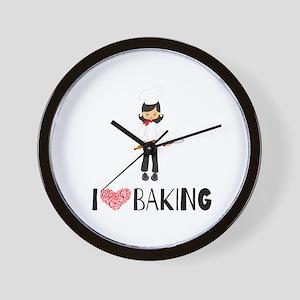 I love Baking Wall Clock