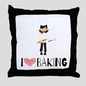 I love Baking Throw Pillow