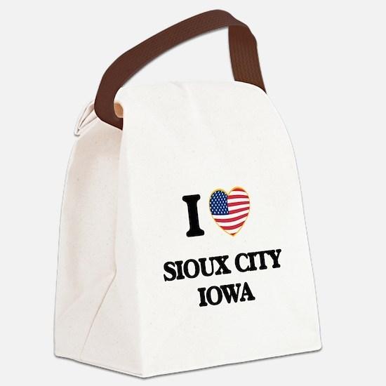 I love Sioux City Iowa Canvas Lunch Bag