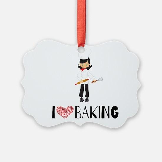 I love Baking Ornament