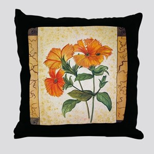 Beauty of Garden- Water Color Paintin Throw Pillow