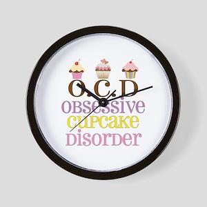Obsessive Cupcake Disorder Wall Clock
