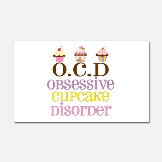 Obsessive Cupcake Disorder Car Magnet 20 x 12