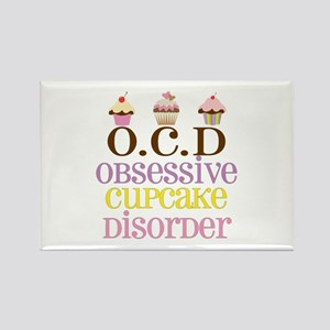 Obsessive Cupcake Disorder Rectangle Magnet