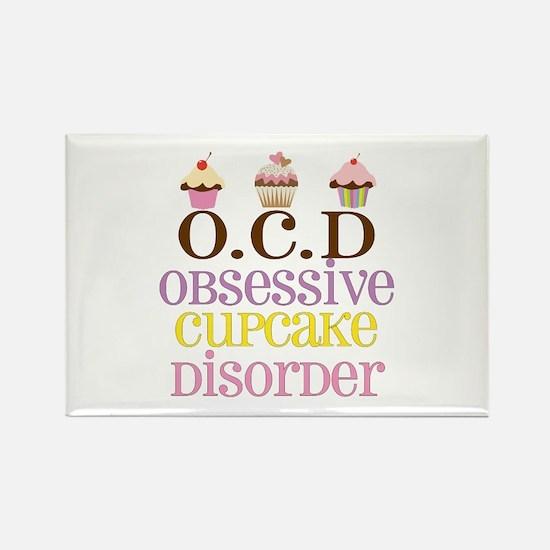 Obsessive Cupcake Disorder Rectangle Magnet