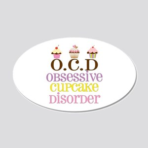 Obsessive Cupcake Disorder 20x12 Oval Wall Decal