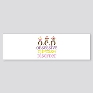 Obsessive Cupcake Disorder Sticker (Bumper)