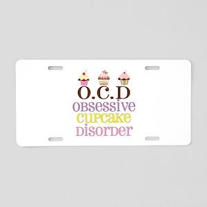 Obsessive Cupcake Disorder Aluminum License Plate