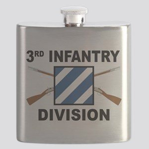 3rd Infantry Division - Crossed Rifles Flask