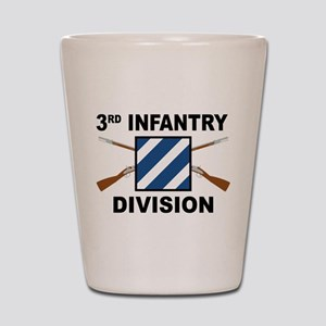 3rd Infantry Division - Crossed Rifles Shot Glass