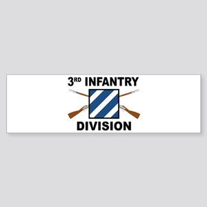 3rd Infantry Division - Crossed Bumper Sticker