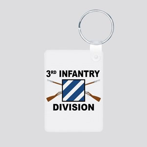 3rd Infantry Division - Crossed Rifles Keychains