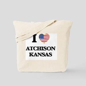 I love Atchison Kansas Tote Bag
