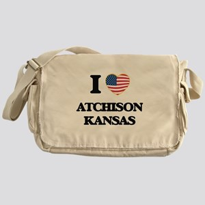 I love Atchison Kansas Messenger Bag