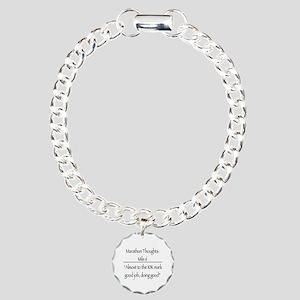 Marathon Thoughts: Mile  Charm Bracelet, One Charm