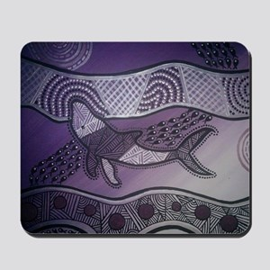 Aboriginal Purple Whale Mousepad