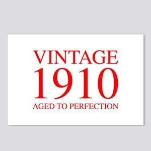 VINTAGE 1910 aged to perfection-red 300 Postcards