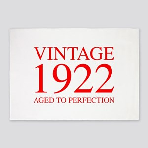 VINTAGE 1922 aged to perfection-red 300 5'x7'Area