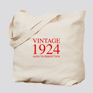 VINTAGE 1924 aged to perfection-red 300 Tote Bag