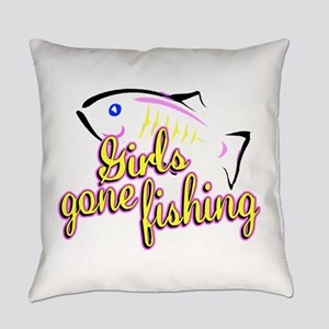 Girls Gone Fishing Everyday Pillow