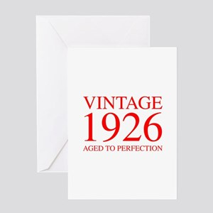 VINTAGE 1926 aged to perfection-red 300 Greeting C