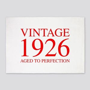 VINTAGE 1926 aged to perfection-red 300 5'x7'Area