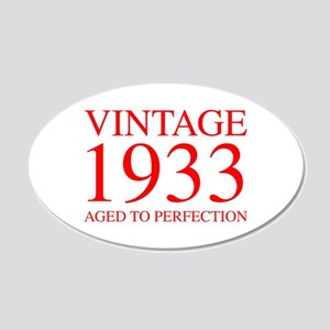 VINTAGE 1933 aged to perfection-red 300 Wall Decal