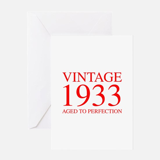 VINTAGE 1933 aged to perfection-red 300 Greeting C