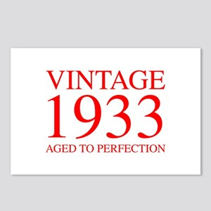 VINTAGE 1933 aged to perfection-red 300 Postcards