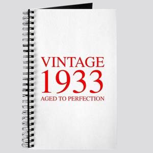 VINTAGE 1933 aged to perfection-red 300 Journal