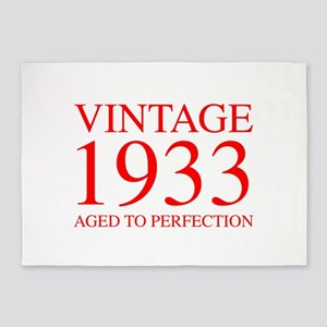 VINTAGE 1933 aged to perfection-red 300 5'x7'Area