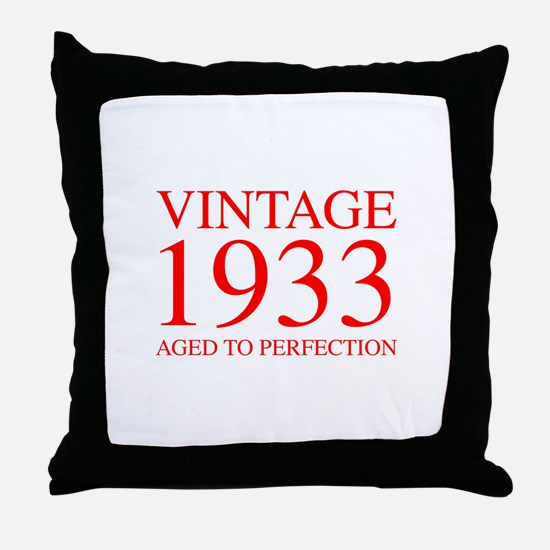 VINTAGE 1933 aged to perfection-red 300 Throw Pill
