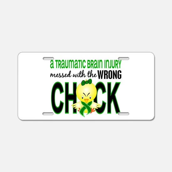 TBI MessedWithWrongChick1 Aluminum License Plate