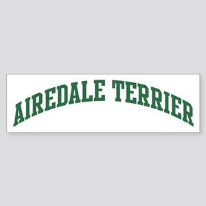 Airedale Terrier (green) Bumper Sticker