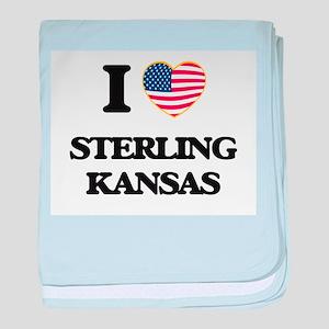 I love Sterling Kansas baby blanket