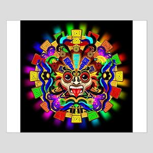 Aztec Warrior Mask Rainbow Colors Posters