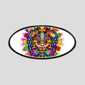 Aztec Warrior Mask Rainbow Colors Patch