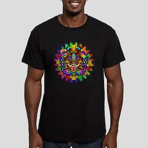 Aztec Warrior Mask Rainbow Colors T-Shirt