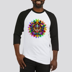 Aztec Warrior Mask Rainbow Colors Baseball Jersey
