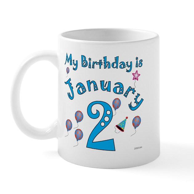 January 2nd Birthday Mug By Nikiclix