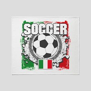 Soccer Italy Throw Blanket